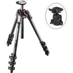 Manfrotto MT190CXPRO4 Carbon Fiber Tripod Kit with 054 Magnesium Ball Head and Q2 Quick-Release System