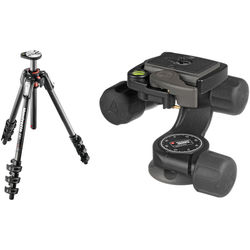 Manfrotto MT190CXPRO4 Carbon Fiber Tripod Kit with 460MG 3D Magnesium Head with RC2 Quick-Release System