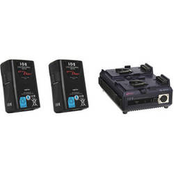 IDX System Technology Dual 91Wh Li-ion V-Mount Batteries & 2-Channel Sequential Quick Charger Kit