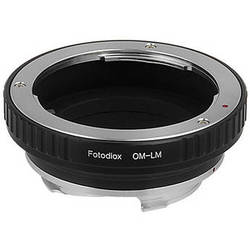 FotodioX Olympus OM Pro Lens Adapter with Built-In Iris Control for Leica M-Mount Cameras