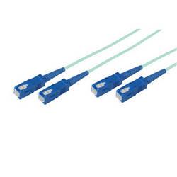 Avenview 50/125�m Fiber Optic Multimode Duplex SC to SC 10Gb OM3 Cable (165', Aqua)