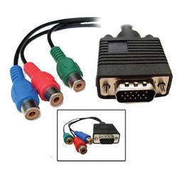 """Avenview VGA HD15 to 3 x RCA Component Video Cable (6"""")"""
