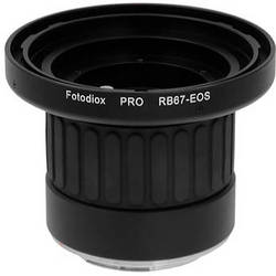 FotodioX Pro Lens Mount Adapter for Mamiya RB67 Lens to Canon EF Mount Camera with Dandelion Focus Confirmation Chip