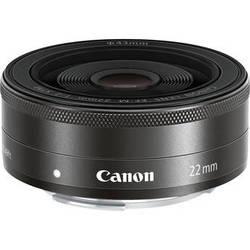 Canon EF-M 22mm f/2 STM Lens (Black, White Box)