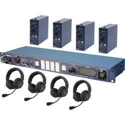 Datavideo ITC100HP2K ITC-100 Intercom, 4x HP-2A Headsets, 4 x ITC-100SL Beltpack and Tallylights Kit