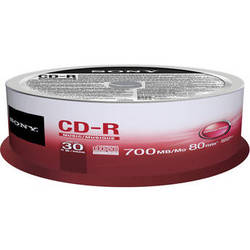 Sony CD-R 700MB Recordable Media Spindle (30 Discs)