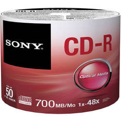 Sony CD-R Data Storage Media (50 Pack)