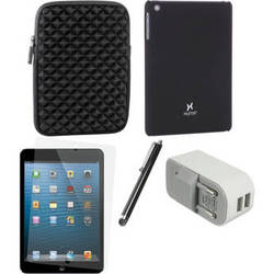 Xuma Case and Sleeve with Accessories Kit for iPad mini (European, Black)