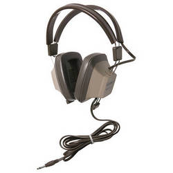 Califone EH-1 Explorer Binaural Headphone (Light Gray/Beige)