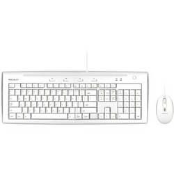 Macally USB Slim Keyboard and Optical Game Mouse Combo for Mac (Ice White)