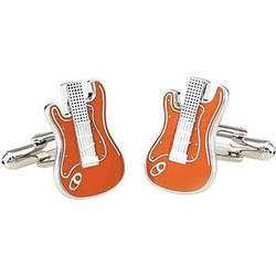 Cuffs NY Orange Electric Guitar Cufflinks