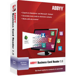 ABBYY Business Card Reader 2.0 for Windows (Software Download)