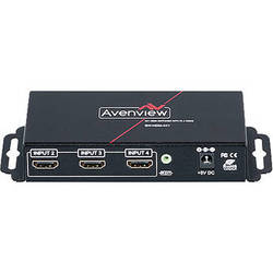 Avenview 4x1 HDMI Switcher with IR and RS232 Control