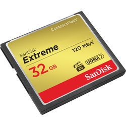 SanDisk 32 GB Extreme CompactFlash Memory Card