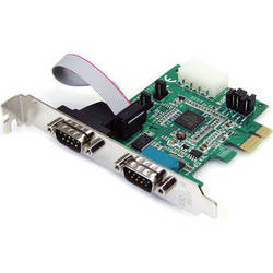 StarTech 2-Port RS-232 Serial PCIe Adapter Card with 16950 UART