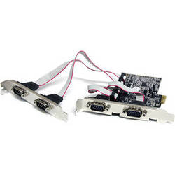 StarTech 4-Port RS-232 Serial Native PCIe Adapter Card with 16550 UART