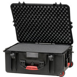 HPRC 2700WF Wheeled Hard Case with Cubed Foam Interior (Black)