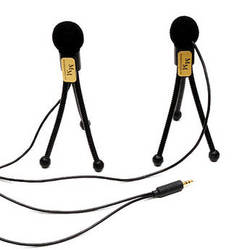 Microphone Madness MM-STEREOTRIPODS Mini-Tripod Omni-Directional Stereo Microphones