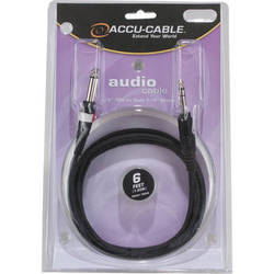 """American DJ 1/4"""" Stereo TRS to Dual 1/4"""" Male Mono Cable (6')"""