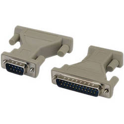 Tera Grand DB 9-Pin Male to DB 25-Pin Male AT Modem Molded Adapter