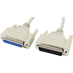 Tera Grand DB25 Male to DB25 Female RS-232 Serial Cable (6')