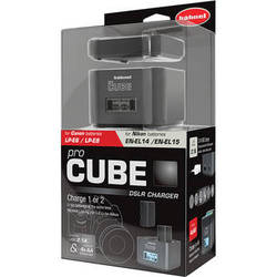 hahnel ProCube Twin Charger for Canon & Nikon and AA Batteries