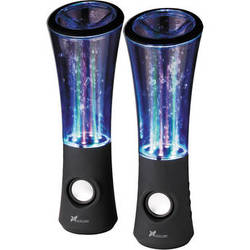 Xcellon Dancing Water Speakers - Six LEDs (Black)