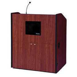 AmpliVox Sound Systems Multimedia Presentation Podium with Sound System (Mahogany)