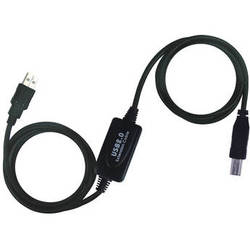 Tera Grand USB 2.0 A Male to USB B Male Active Extension Cable (32')