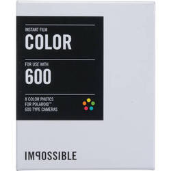 Impossible Color Instant Film for Polaroid 600 Cameras (White Frame, 8 Exposures)