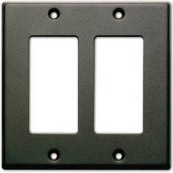 RDL CP-2B Single Cover Wall Plate (Black)