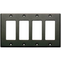 RDL CP-4B Single Cover Wall Plate (Black)