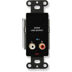 RDL DB-TPR2A Active RCA Stereo Audio Output over Dual RJ45 Receiver Module (Black)