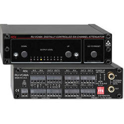 RDL RU-VCA6A Digitally Controlled Six Channel Audio Attenuator