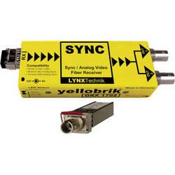 Lynx Technik AG yellobrik Analog Sync/Video Fiber Optic Receiver (Single Mode ST Connection)