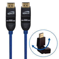 Speco Technologies HDMI Male Swivel Cable (Blue, 15')