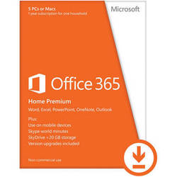Microsoft Office 365 Home Premium 2013 (5 PC or Mac Licenses / 1-Year / Download)