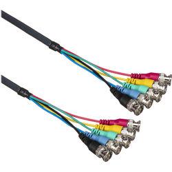 Kramer 5 BNC Male RGBHV Mini Coax Cable (3 ft)