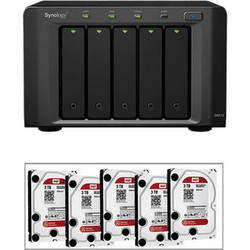 Synology 15TB (5 x 3TB) DiskStation DX513 5-Bay Expansion Unit with Drives