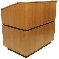 AmpliVox Sound Systems Coventry Lectern (Non-Sound, Natural Cherry)