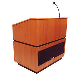 AmpliVox Sound Systems Coventry Lectern with Sound System (Natural Cherry)
