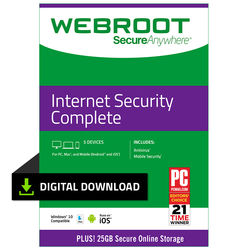 Webroot SecureAnywhere Internet Security Complete (Download, 5 Devices, 1 Year)