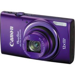 Canon PowerShot ELPH 340 HS Digital Camera (Purple)