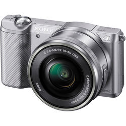 Sony Alpha a5000 Mirrorless Digital Camera with 16-50mm Lens (Silver)