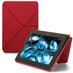 """Kindle Kindle Fire HDX 8.9"""" Standing Leather Origami Case (Red)"""