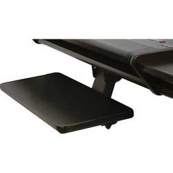 Omnirax KMSF-B Adjustable Keyboard / Mouse Shelf for Fusion/F2/Forte (Black Melamine)