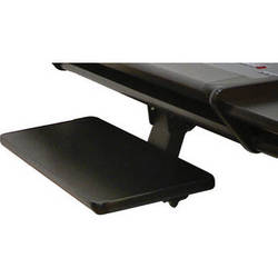 Omnirax KMSNV-B Adjustable Keyboard / Mouse Shelf for Nova (Black Melamine)