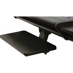Omnirax KMSPR-B Adjustable Keyboard / Mouse Shelf for Presto / Presto 4 (Black Melamine)