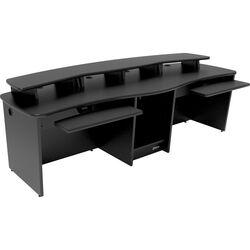 Omnirax Gemini Dual-Position Multi-Purpose Workstation (Black Melamine)
