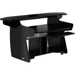 Omnirax Coda EX Mixing and Digital Editing Workstation Desk (Black Melamine)